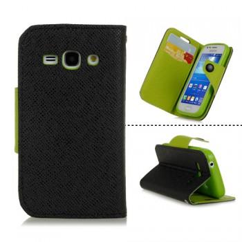 Чехол портмоне подставка с заклепкой для Samsung Galaxy Ace 3
