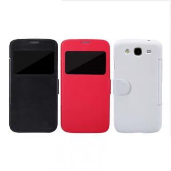 Чехол флип на основе матового премиум пластика с окном вызова для Samsung Galaxy Mega 5.8