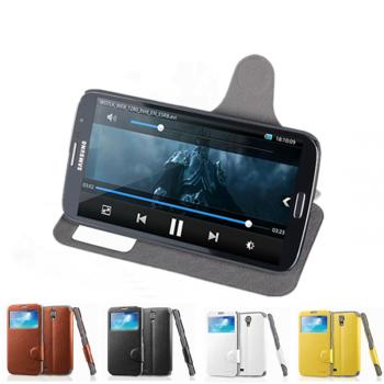 Чехол смарт флип подставка с окном вызова для Samsung Galaxy Mega 6.3