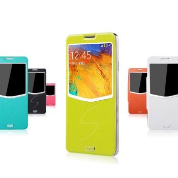 Чехол флип подставка с окном вызова серия Half Access встраиваемый для Samsung Galaxy Note 3
