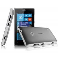 Пластиковый полупрозрачный чехол для Nokia Lumia 520/525 Черный