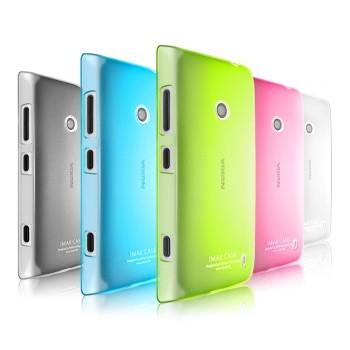 Пластиковый полупрозрачный чехол для Nokia Lumia 520/525