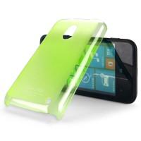 Пластиковый ультратонкий чехол для Nokia Lumia 620 серия Slim Зеленый