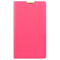 Ультратонкий чехол флип подставка серия Second Skin для Nokia Lumia 625 Розовый