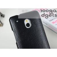 Кожаный чехол накладка Back Cover (нат. кожа) для HTC One Mini Черный