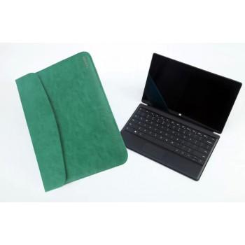 Кожаный чехол папка (нат. вощеная кожа) для Microsoft Surface 2
