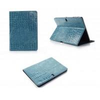 Чехол подставка серия Croco Pattern для Samsung Galaxy Tab Pro 10.1 Голубой