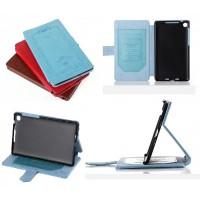 Кожаный тисненый чехол подставка с застежкой и внутренним карманом для ASUS Nexus 7 II 2013