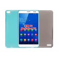 Силиконовый полупрозрачный чехол для Huawei MediaPad X1