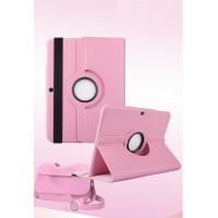 Чехол подставка роторный для Samsung Galaxy Tab 4 10.1 Розовый