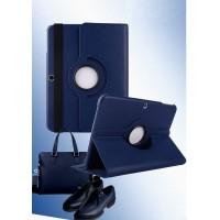 Чехол подставка роторный для Samsung Galaxy Tab 4 10.1 Синий