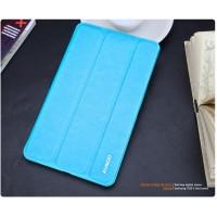 Кожаный чехол смарт флип подставка сегментарный для Samsung Galaxy Tab Pro 8.4 Голубой
