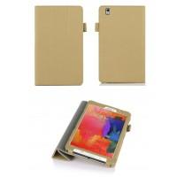 Чехол подставка сегментарный серия Full Cover текстурный для Samsung Galaxy Tab Pro 8.4 Коричневый