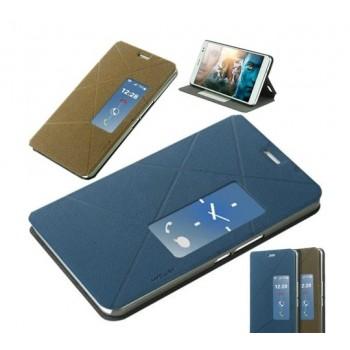 Чехол смарт флип подставка с окном вызова серия Crossed Lines для Huawei Mediapad X1