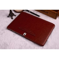 Кожаный чехол смарт флип подставка (нат. кожа) серия First Wish для Samsung Galaxy Tab Pro 10.1 Коричневый