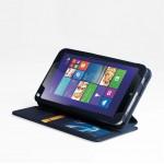 Чехол портмоне подставка текстурный для Lenovo ThinkPad 8