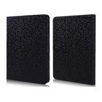 Чехол портмоне подставка текстурный серия Honeycomb для Samsung Galaxy Tab 4 10.1 Черный