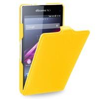 Кожаный чехол вертикальная книжка (нат. кожа) для Sony Xperia Z1 Compact