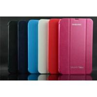 Чехол смарт флип подставка сегментарный серия Smart Cover для Samsung Galaxy Tab 4 7.0