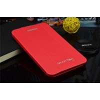 Чехол смарт флип подставка сегментарный серия Smart Cover для Samsung Galaxy Tab 4 7.0 Красный