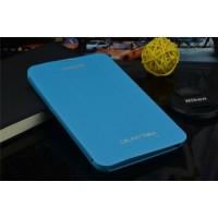 Чехол смарт флип подставка сегментарный серия Smart Cover для Samsung Galaxy Tab 4 7.0 Голубой
