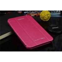 Чехол смарт флип подставка сегментарный серия Smart Cover для Samsung Galaxy Tab 4 7.0 Розовый