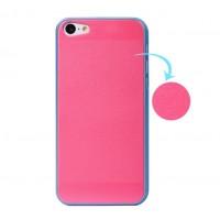 Пластиковый чехол с покрытием Soft Touch для Iphone 5c Розовый