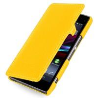 Кожаный чехол горизонтальная книжка (нат. кожа) с крепежной застежкой для Sony Xperia Z1 Compact