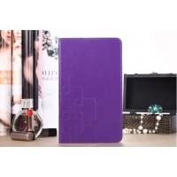 Чехол портмоне подставка текстурный серия Square Bubbles для Samsung Galaxy Tab Pro 8.4 Фиолетовый