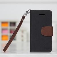 Чехол портмоне подставка для Iphone 5c Черный