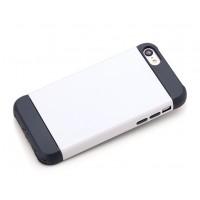 Чехол силикон/поликарбонат D-Colour для Iphone 5c Белый