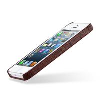 Кожаный чехол накладка Back Cover (нат. кожа крокодила) для Iphone 5s/SE