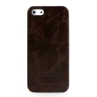 Кожаный чехол накладка Back Cover (цельная телячья кожа) для Iphone 5s/SE
