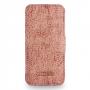 Кожаный чехол книжка горизонтальная (нат. кожа слона) для Iphone 5s/SE