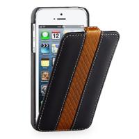 Кожаный чехол книжка вертикальная (2 вида нат. кожи) серия Sport Line для Iphone 5s/SE