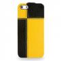Кожаный чехол книжка вертикальная (нат. кожа) серия Squares для Iphone 5s/SE