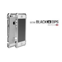 Ультрапротекторный чехол авиационный алюминий/углеродные волокна серия Black Ops для Iphone 5s/SE