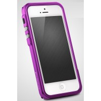 Металлический премиум бампер серия Metal Trigger для Iphone 5/5s/SE Фиолетовый