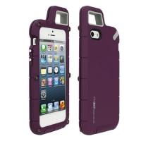Экстремальный резиновый премиум чехол серия Mountain для Iphone 5/5s/SE Фиолетовый