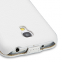 Вертикальная книжка (нат. кожа) для Samsung Galaxy S4 Mini белая