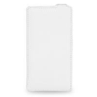 Кожаный чехол книжка вертикальная (нат. кожа) для Nokia Lumia 1320 Белый