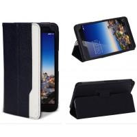 Чехол подставка серия Full Cover D Color для Huawei MediaPad X1 Черный