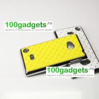 Чехол пластик/металл со стразами для Nokia Lumia 720 Желтый