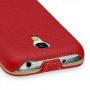 Вертикальная книжка (нат. кожа) для Samsung Galaxy S4 Mini красная