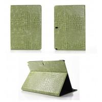 Чехол подставка серия Croco Pattern для Samsung Galaxy Note Pro 12.2 Зеленый