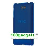 Силиконовый чехол синий для HTC Windows Phone 8S