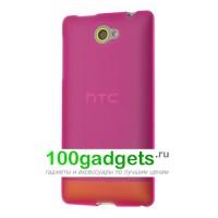 Силиконовый чехол розовый для HTC Windows Phone 8S