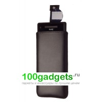 Чехол кожаный мешочек черный для HTC Windows Phone 8X