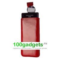 Чехол кожаный мешочек красный для HTC Windows Phone 8X