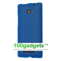 Силиконовый чехол синий для HTC Windows Phone 8X